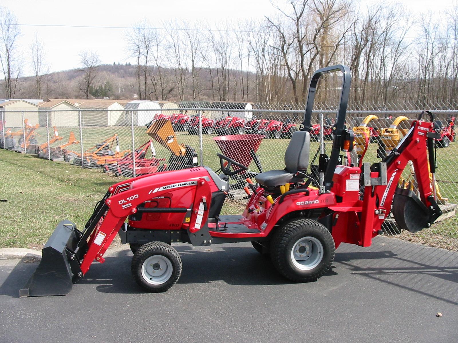 Massey Ferguson Tractor Loader Backhoe : Massey ferguson gc tractor loader backhoe iron