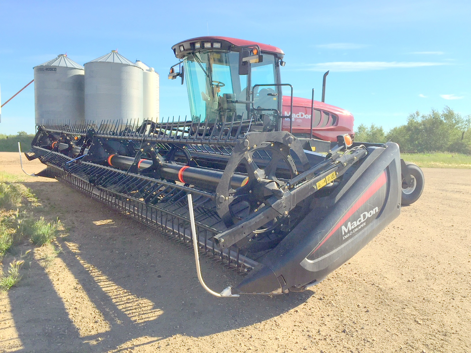 Macdon windrower for sale