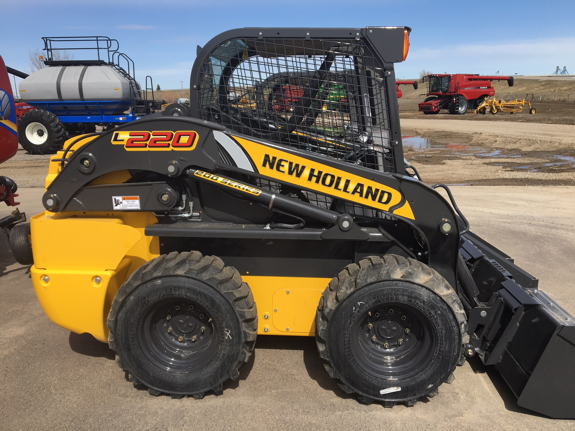2018 New Holland L220-T4B Skid Steer Loader