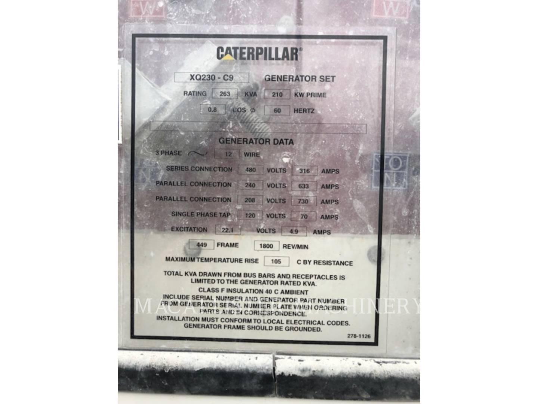 2007 Caterpillar XQ 230 Generator for sale in INDIANAPOLIS