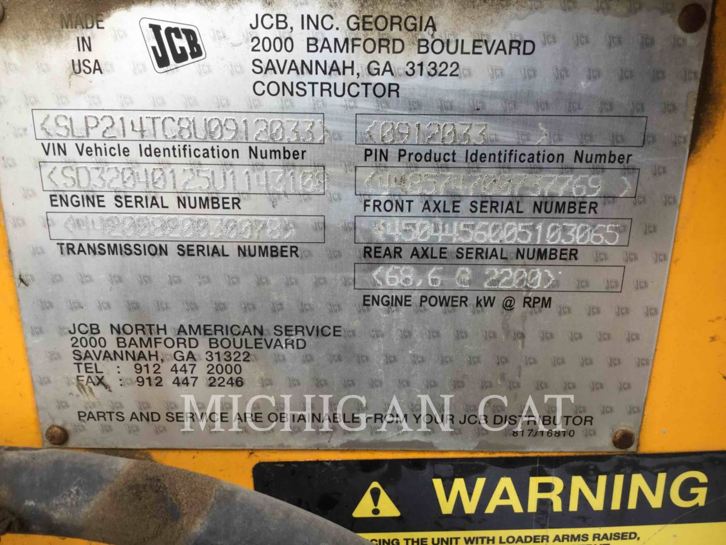 2009 JCB 3CX Tractor Loader Backhoe for sale in NOVI, MI